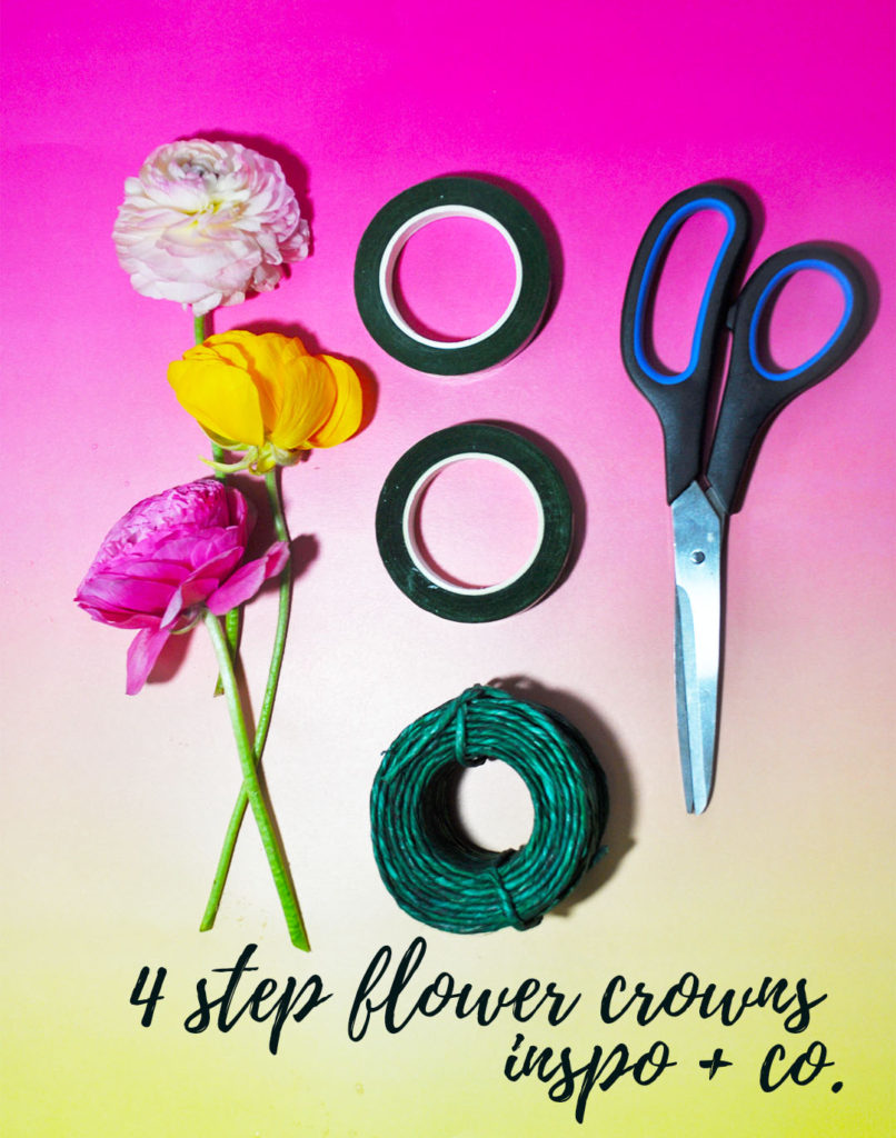 Four-Step Flower Crowns