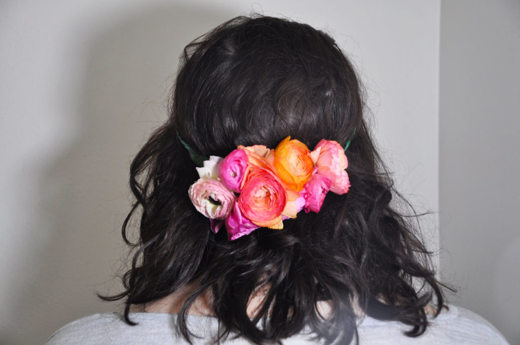 Flower crown from back