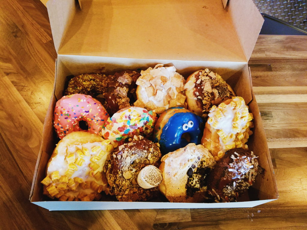 a dozen of hurts donuts